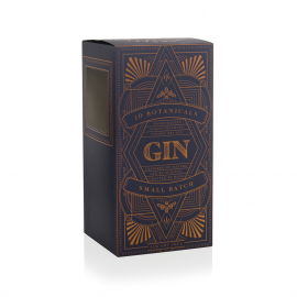 Custom Printed Gin Bottle Box Ref Worsley Gin