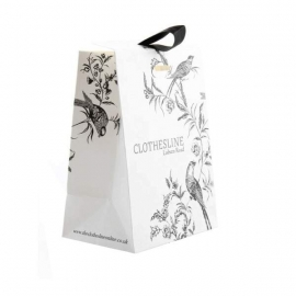 Luxury Printed Satin Closed Carrier Bags With Matt Laminate - Ref. Clothesline