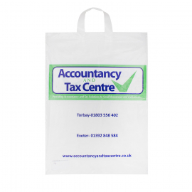Printed Variloop Handle Carrier Bags Ref Accountancy And Tax Centre