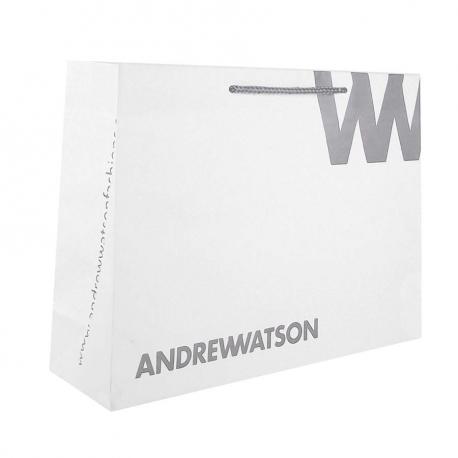 White Kraft Paper Carrier Bags - Ref. Andrew Watson