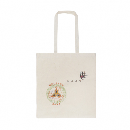 Printed Natural Cotton Carrier Bag Ref ADBN