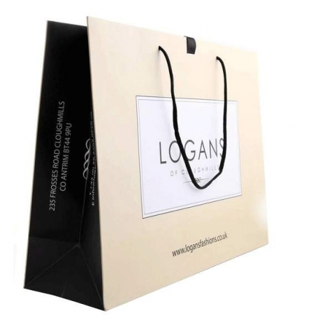 Luxury Card Paper Carrier Bags - Ref. Logans