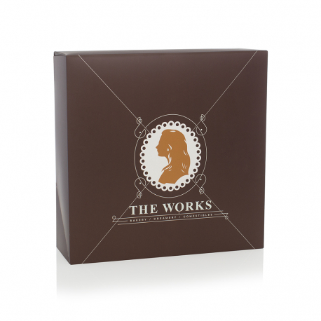 Custom Printed Paperboard Box for Cakes Ref The Works
