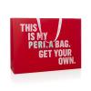 Bespoke Pink Ribbon Handled Carrier Bag Ref Peri A