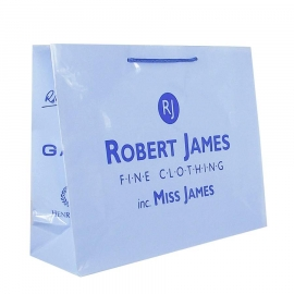 Recycled and Printed Art Paper Carrier Bags - Ref. Robert James