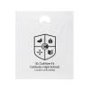 Printed Die Cut Plastic Carrier Bag Ref St Cuthbert's