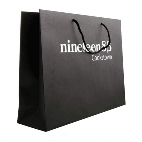 6b76c2d101 Printed Recycled Brown Kraft Rope Handle Bags With Hot Foil - Ref ...