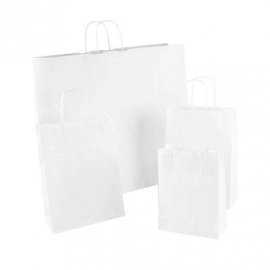 White Paper Bags With Twisted Handles