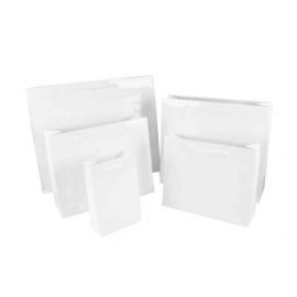 Luxury White Gloss Paper Bags With Rope Handles