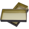 Printed Chocolate Shoulder Box with Gold Paper