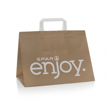 Luxury Printed Kraft Shopping Bag Ref Spar