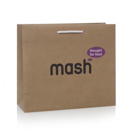 Bespoke Recycled Paper Carrier Bag Ref Mash