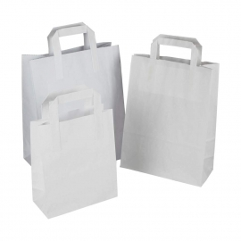 White Paper Sandwich Bags - Paper Take-away Bags