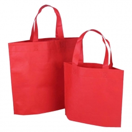 Reusable Bags - Red Non-woven Polypropylene Bags