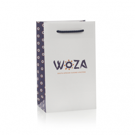 Branded Uncoated Carrier Bag Ref Woza