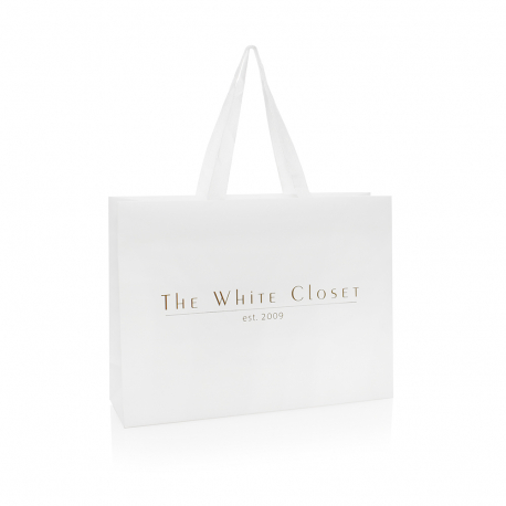 Bespoke Embossed Carrier Bag Ref The White Closet