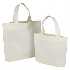 Reusable Bags - Cream Non-woven Polypropylene Bags