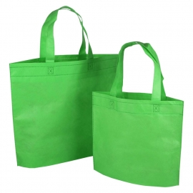 Reusable Bags - Green Non-woven Polypropylene Bags
