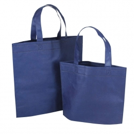 Reusable Bags - Navy Non-woven Polypropylene Bags