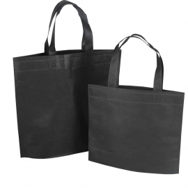 Reusable Bags - Black Non-woven Polypropylene Bags