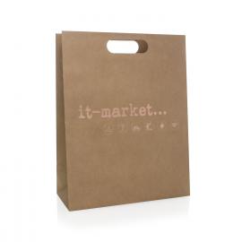Bespoke Die Cut Paper Carrier Bags Ref It-Market