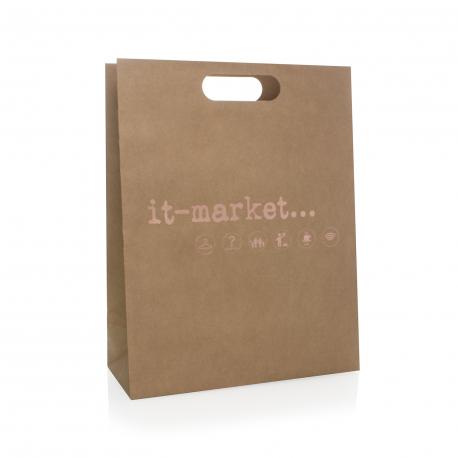 new styles reasonably priced retail prices Bespoke Die Cut Paper Carrier Bags Ref It-Market