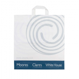 Printed LDPE Flexi Loop Bags With Two Colour Print Ref Ulster Stores