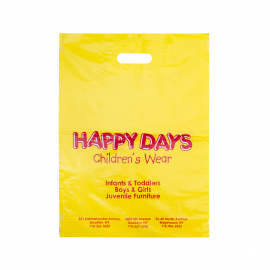 Printed Plastic Carrier Bags for Children's Toys Ref Happy Days