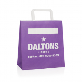 Full Colour Printed Flat Handle Takeout Bags Ref Daltons