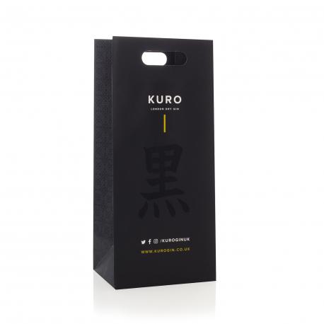 Custom Gin Bottle Carrier Bags Ref Kuro