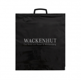 Printed Plastic Carrier Bag with Clip Handle Ref Wackenhut