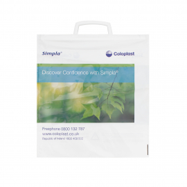 Customised Plastic Clip Handle Carrier Bag Ref Coloplast
