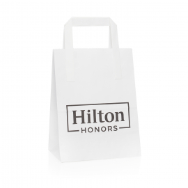 Printed Flat Handle Paper Gift Bags Ref Hilton