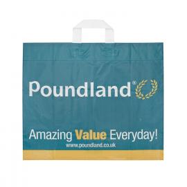 Branded Flexi Loop Carrier Bag Ref Poundland