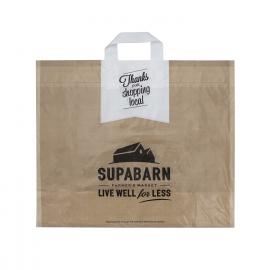 Bespoke Printed Flexi Loop Carrier Bags Ref Supabarn