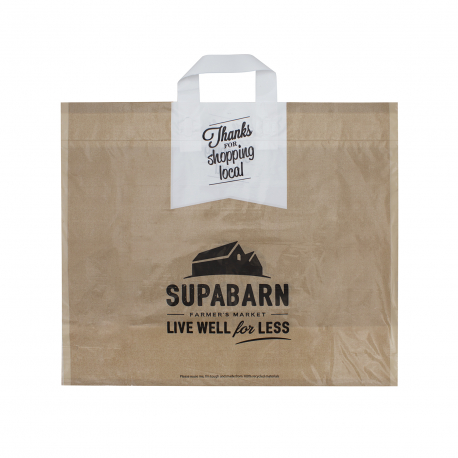 Bespoke Printed Flexi Loop Carrier Bags Ref Supabarn