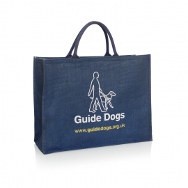 Custom Printed Jute Carrier Bags Ref Guide Dogs UK