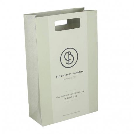 Printed Die Cut Paper Bags - Reinforced Paper - Ref. Bloomsbury