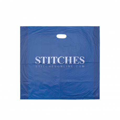 Printed Plastic Carrier Bag Ref Stitches