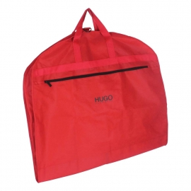 Printed Non-Woven Suit Bags - Red Suit Carrier Bags - Ref. Hugo Boss