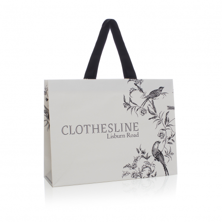 Luxury Card Paper Carrier Bags - Ref. Clothesline