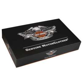 Printed Detachable Lid Boxes With Flat Pack Design - Ref. Harley Davidson