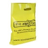 Printed Yellow Plastic Patch Handle Bags - Ref. Zip Yard