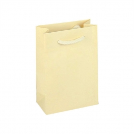 Recycled Cream Paper Bags With Rope Handles