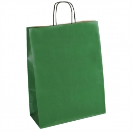 Green Paper Bags With Twisted Handles