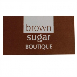 Brown And White Custom Printed Stickers - Ref. Brown Sugar