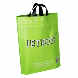 Printed LDPE Plastic Flexi Loop Bags With Matt Finish - Ref. Jetbox