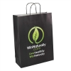 Printed Paper Bags with Black Twisted Handles - Ref. WinNaturally