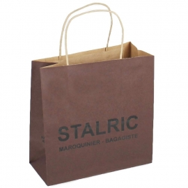 Printed Brown Paper Bags With Twisted Handles - Ref. Stalric