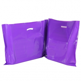 Purple Plastic Bags With Punched Out Handles